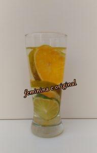 água saborizada laranja