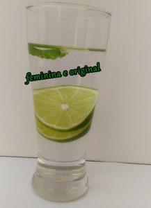 água saborizada limão
